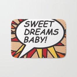 Comic Book SWEET DREAMS BABY! Bath Mat