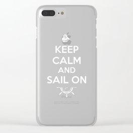 Keep Calm sailboat sailing ship compass gift Clear iPhone Case
