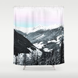 Snowy Mountains Shower Curtain
