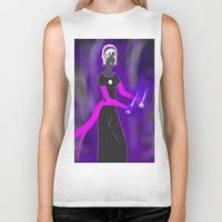 homestuck Biker Tanks featuring Grimdark Rose by Paula Urruti