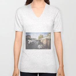 Streets of South East Asia - grime. Unisex V-Neck