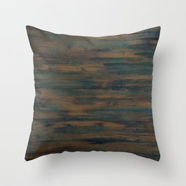 Beautifully patterned stained wood Throw Pillow