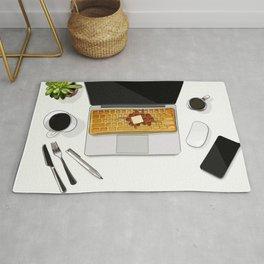 Waffle Laptop Computer Flat Lay Rug