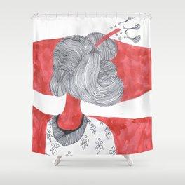 Japanese Woman whith Kimono Shower Curtain