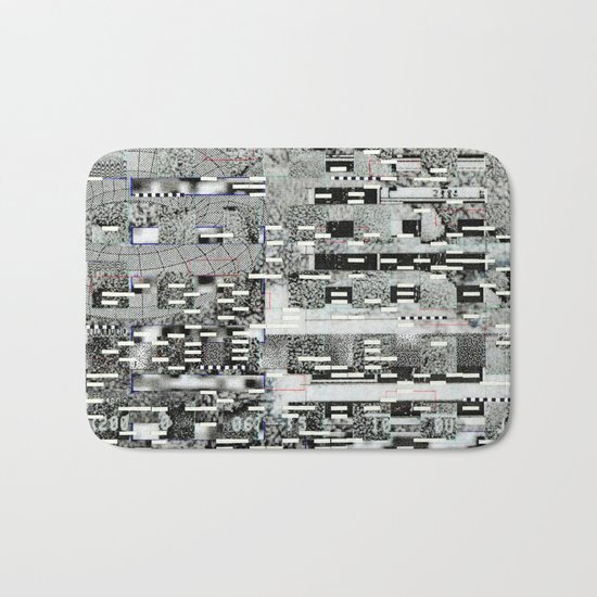 Highly Resolved Ghost (P/D3 Glitch Collage Studies) Bath Mat