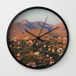 Light from the Sunset Wall Clock