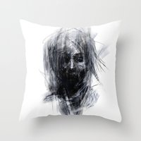 silent hill Throw Pillows featuring Silent by Gyossaith