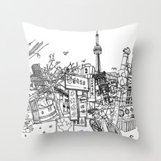 Toronto! (Dark T-shirt Version) Throw Pillow