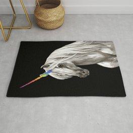 Unicorn in Black Rug