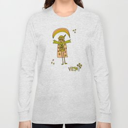 virgo flower child zodiac art by surfy birdy Long Sleeve T-shirt