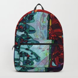 A Committee Looks Upon The Vortex (Maelga Turquoise Turbulante) Backpack