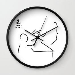 optician glasses ophthalmologist Wall Clock