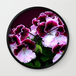 Pink, Purple, Flower Power Wall Clock