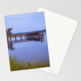 Fishing Pier at Sunset Stationery Cards