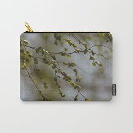 Springtime Green Leaves Carry-All Pouch