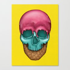 Skull Icecream Canvas Print