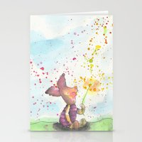 piglet Stationery Cards featuring Pooh and Piglet by Makenna Raye