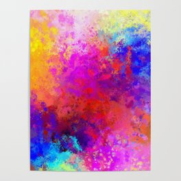 Colorful Splatter Poster