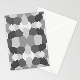 Grey Geometric Pattern Stationery Cards