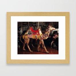 Outside Row Camal Framed Art Print