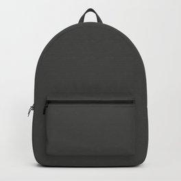 BROADWAY Dark neutral solid color Backpack