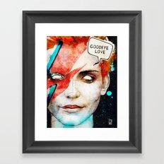 Ziggy Stardust/David Bowie Framed Art Print