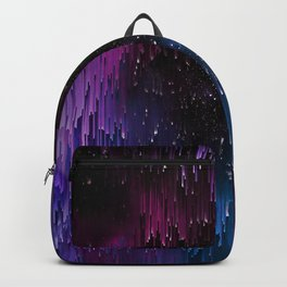 Ultra Violet Glitch Galaxy Backpack