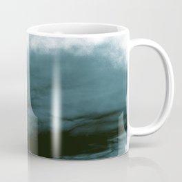 WHITE & BLUE & BLACK TOUCHING #1 #abstract #decor #art #society6 Coffee Mug