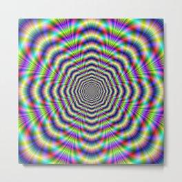 Psychedelic Octagon Pulse Metal Print