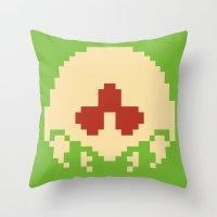 metroid Throw Pillows featuring Metroid SR388 by Pralie