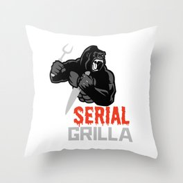 Serial Grilla  Throw Pillow