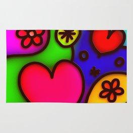 Colorful Modern Love 2 Rug