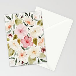 Loose Autumn Flowers Stationery Cards