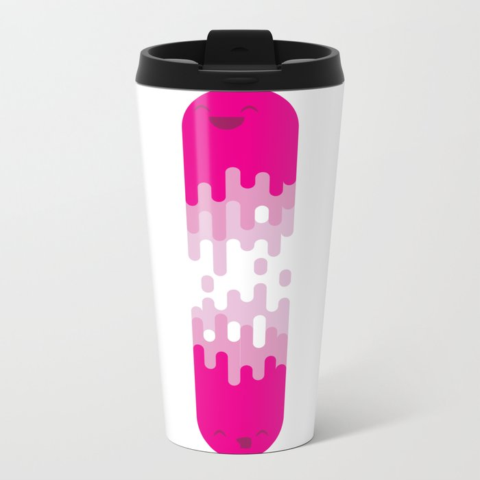 """Jelly and Co. - Friends never let you fall"" Metal Travel Mug"