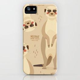 Meerkat, African Wildlife iPhone Case