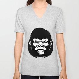 Gorilla face Unisex V-Neck