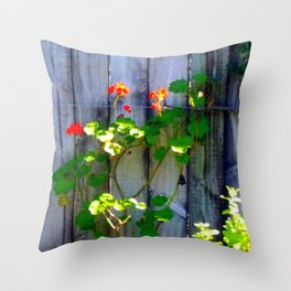 Blooming Sunday Throw Pillow