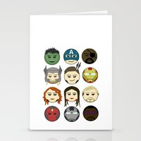avenger Stationery Cards featuring Avenger Emojis :) by jozi.art
