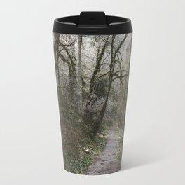 Frosty Forest Path Travel Mug