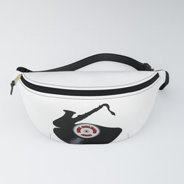 New Orleans Jazz Music Silhouette Record Fanny Pack