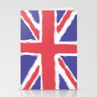 union jack Stationery Cards featuring Union Jack by Holly Louise