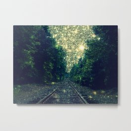 Dreamy Train Tracks Metal Print