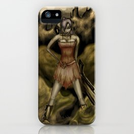 The Girl with a Big Gun iPhone Case