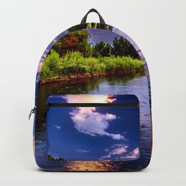 Beautiful African River Stream Backpack