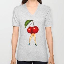 Cherry Girl Unisex V-Neck