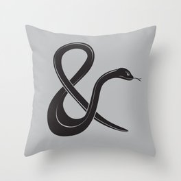 ampersssssand Throw Pillow