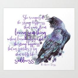 The Raven Boys quote Art Print