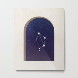 Libra Night - Constellation Metal Print