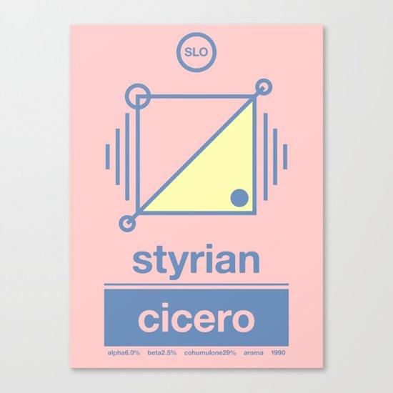 styrian cicero single hop Canvas Print