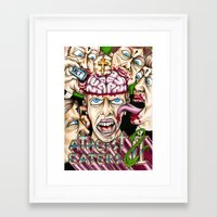 atheist Framed Art Prints featuring Atheist Eaters II by Adam Bright